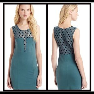 Free People Teal Polka Dot Dress